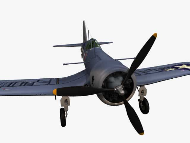 3d-Modell F4U-1 Corsair