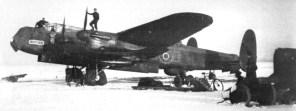 Lancaster-Bomber Winter 1944/45