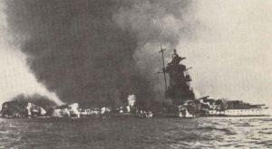 Panzerschiff Admiral Graf Spee brennt