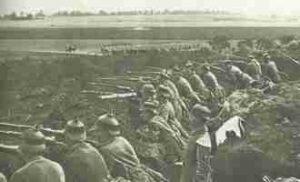 Deutsche Soldaten bei einem der letzten Manöver vor Kriegsbeginn