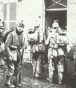 Gruppe deutscher Infanterie