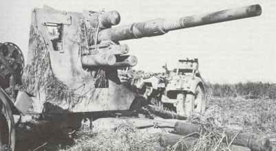 zerstörte 88-mm-Flak