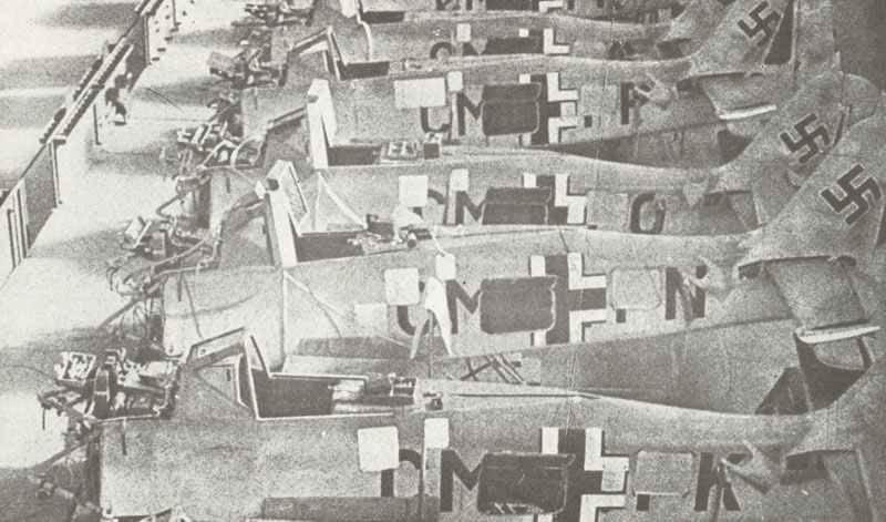Montageband für die deutschen Focke-Wulf Fw190