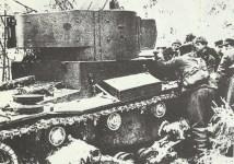 erbeuteter russischer OT-130 Flammenwerfer-Panzer