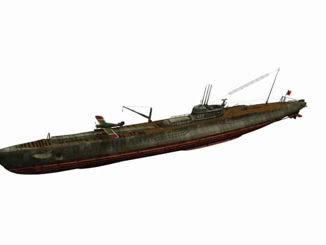 3D-Modell japanisches U-Boot I-19