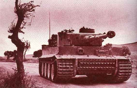 Erbeuteter Tiger-Panzer Tunesien