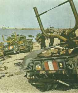 Churchill-Panzer bei Dieppe