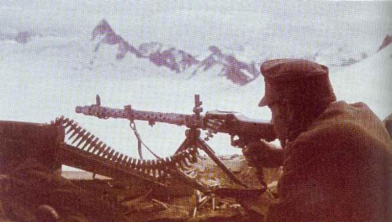 MG 34 der Gebirgsjäger im Kaukasus