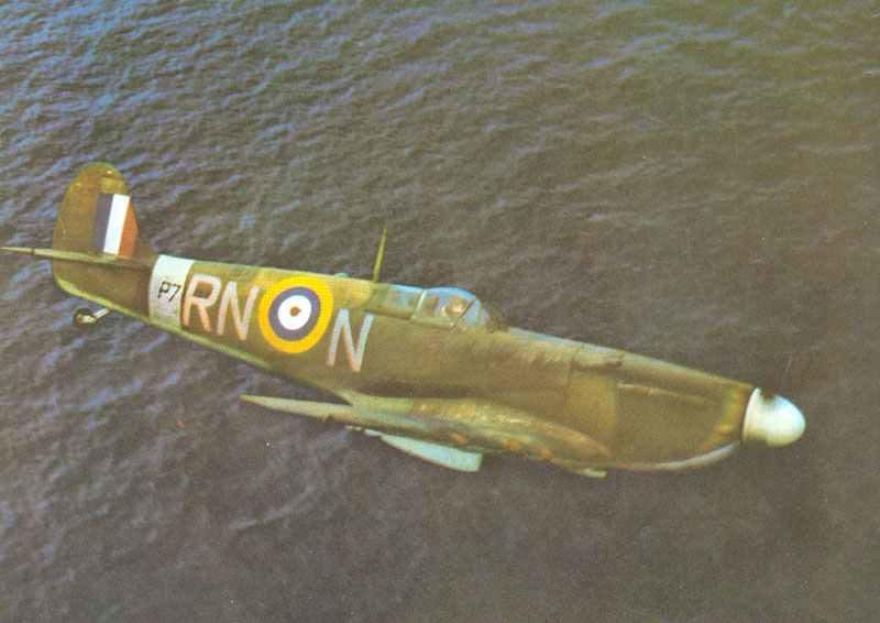 Spitfire-Jagdflugzeug während der Schlacht um England