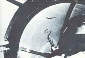 Bugschütze eines deutschen Heinkel He 111 Bombers