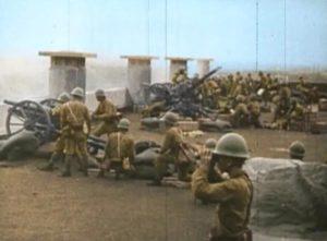 Japanische Artillerie in Manila