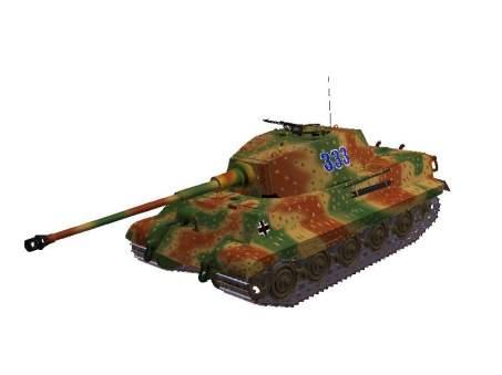 3d-Modell Königstiger