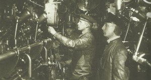 Maschinenraum deutsches U-Boot