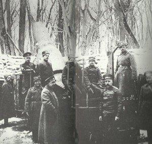 Russische 280-mm-Haubitze vor Przemysl