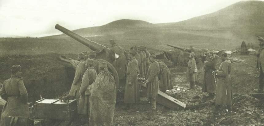 Serbische Artillerie