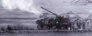 155mm M12 GMC bei Hanau