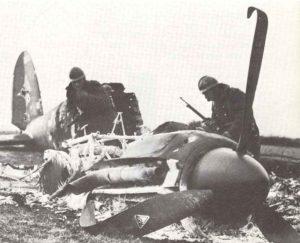 abgeschossene He 111 in Frankreich