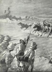 Araber greifen Briten an