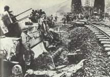 M16 Multiple Gun Motor Carriage vor der Remagen-Brücke