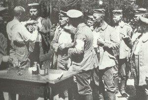 Choleraimpfung an der Ostfront