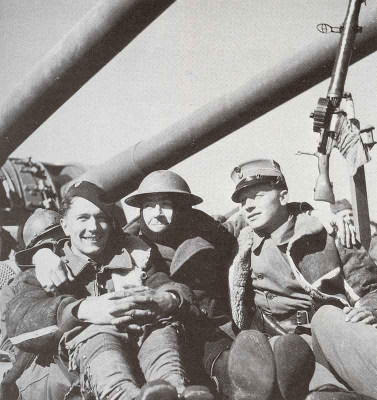 drei aus Norwegen evakuierte alliierte Soldaten