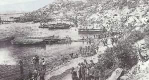 Landung am Strand von Gallipoli