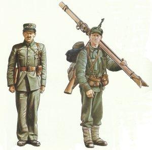 Leutnant, Unteroffizier norwegische Armee 1940