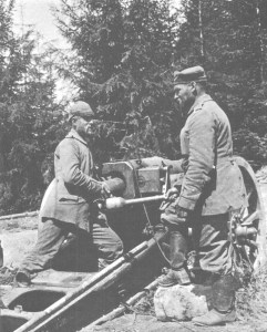 deutsche Artillerie in den Karpaten