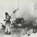 Deutsche Pak bei der Abwehr eines russischen Angriffs