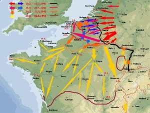 Karte vom Westfeldzug