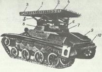 BM-8-24-Werfer auf T-60