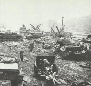 Russische Stellung an Spreebrücke