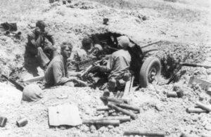 US 37-mm-M3A1 Pak auf Okinawa