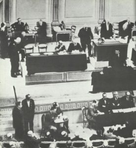 Kammersitzung zum Waffenstillstandsangebot