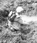 erschöpfter Marine-Soldat
