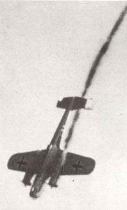 abgeschossener Dornier Do17 Bomber