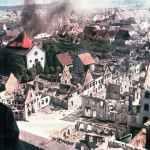 zerstörte französische Ortschaft