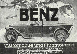 Inserat für die Firma Benz