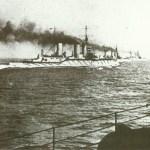 Schlachtkreuzer der 'Lion'-Klasse auf See vor der Schlacht am Skagerrak