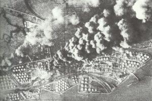 Getroffene Öltanks