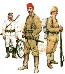Türkische Infanterie 1915-17
