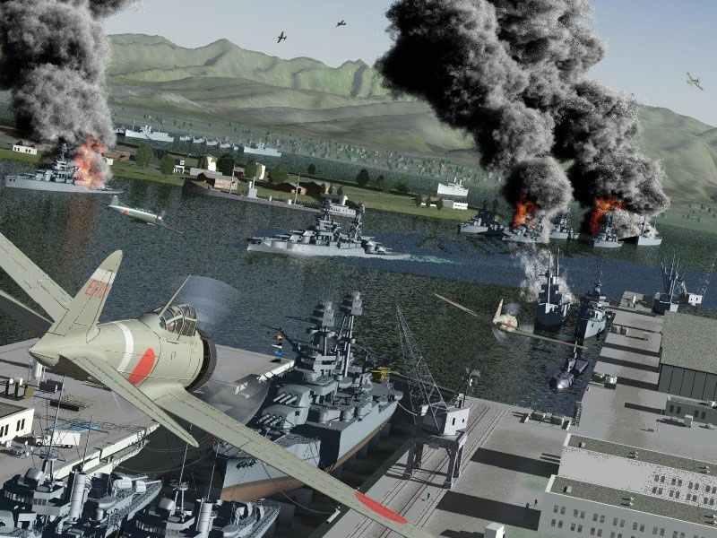 Zeros über Pearl Harbor.