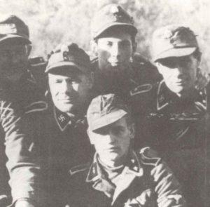 Unteroffiziere der lettischen 19. Waffen-SS-Division