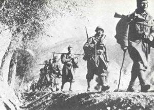 Italienische Infanterie in Griechenland