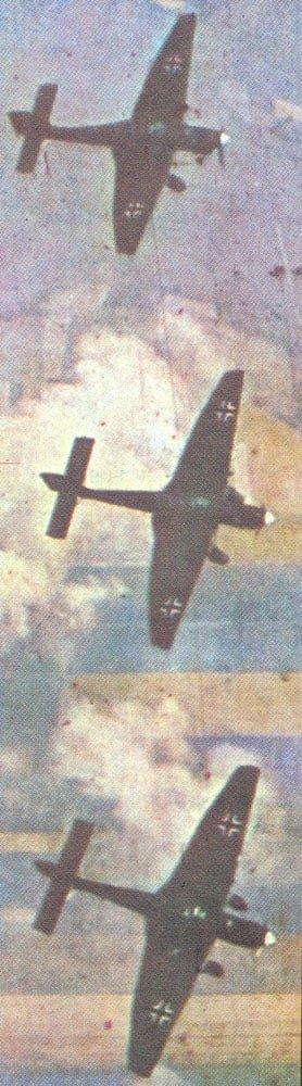 Ju 87 drehen zum Angriff ein