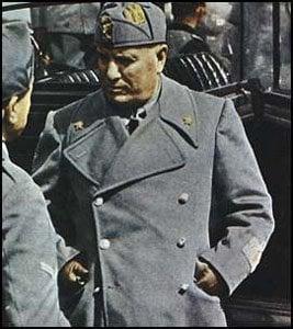 Mussolini im Februar 1943