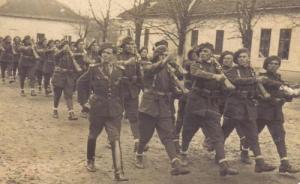 Rumänische Soldaten Parade