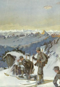 'Schneeschuhläufer-Patrouille'