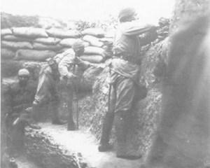 Türkische Gräben auf Gallipoli