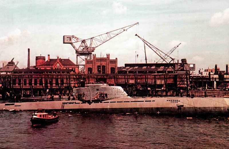 Typ xxi deutsches u boot und erstes echtes unterseeboot for Deutsches u boot typ xxi mit interieur